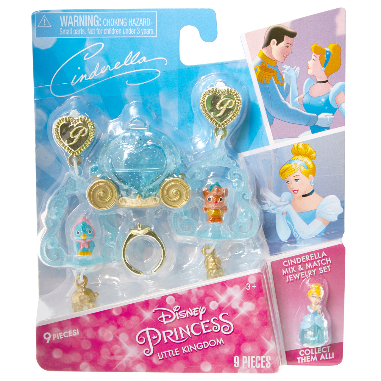Disney Princess Little Kingdom Nail Polish Makeup Sets Cinderella Midnight Manis