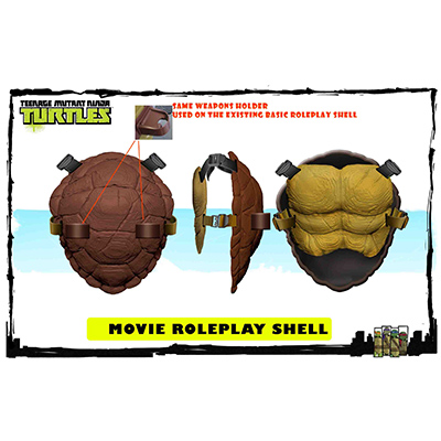 Teenage Mutant Ninja Turtles Movie 2 - Front & Back Shell