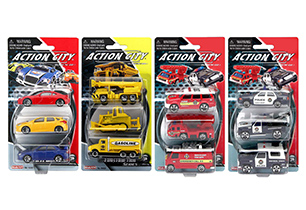 Action City Die Cast 3 Pack Assorted Vehicles
