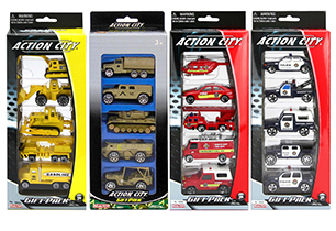 Action City 5 Pack Assorted Vehicles