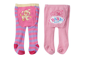 Baby Born Tights 2 Pairs - Assorted