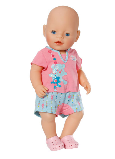 Baby Born Shorty Pyjamas With Shoes Baby Born Prima Toys