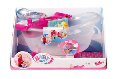 baby born interactive bathtub with duck baby born prima toys. Black Bedroom Furniture Sets. Home Design Ideas