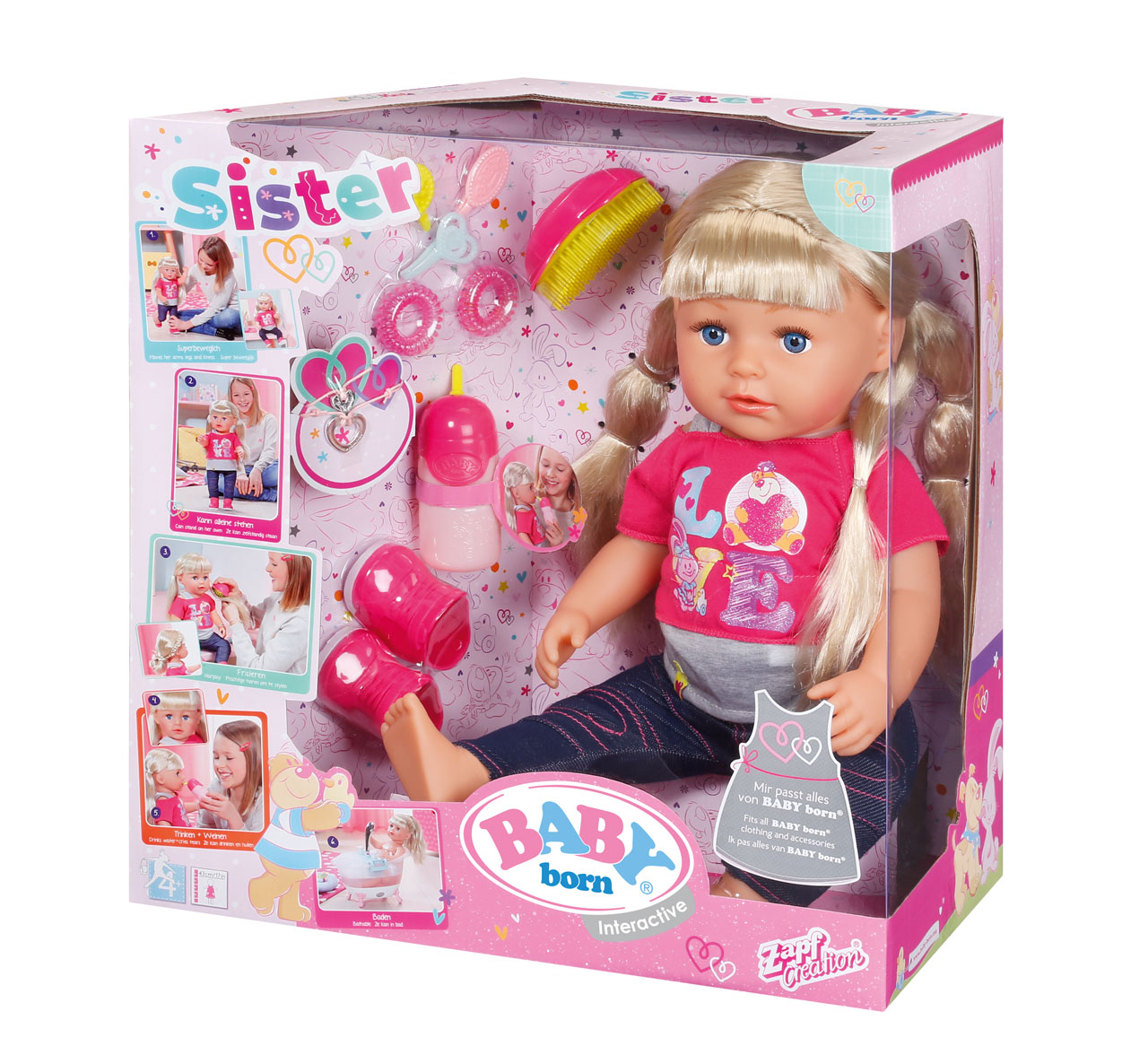 Toys For Sisters : Baby born interactive sister doll prima toys