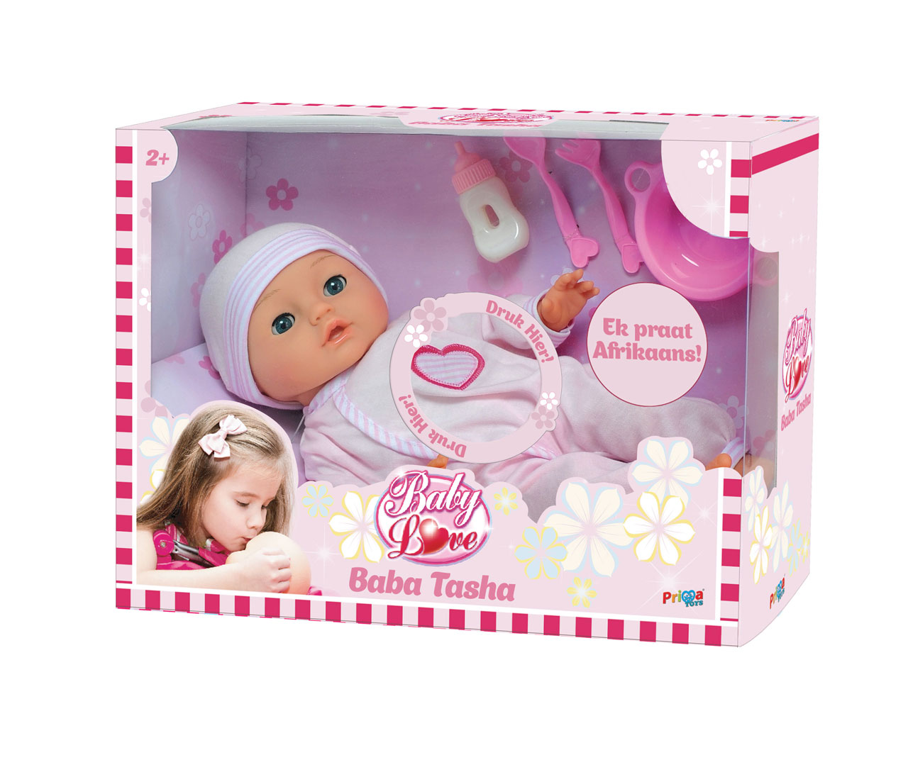 Toys For Love : Baba tasha afrikaans speaking doll baby love prima toys