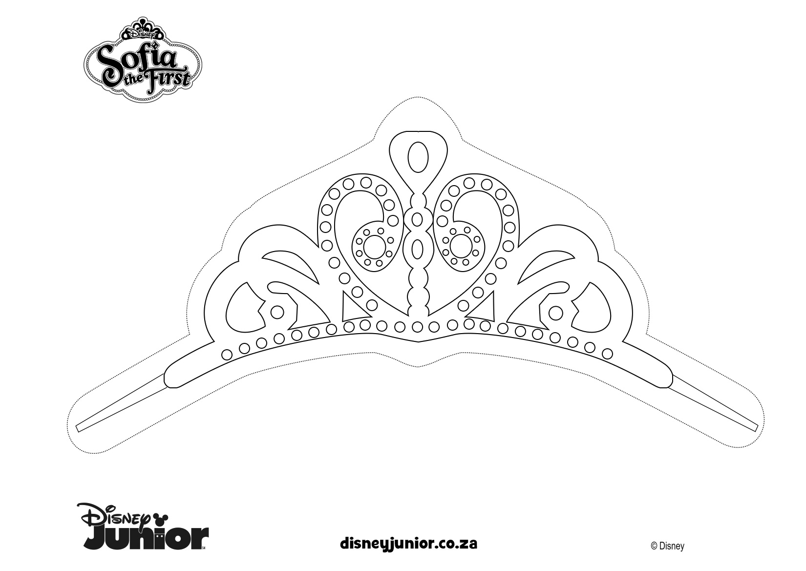 printables clover print colour sofia the first make princess tiara