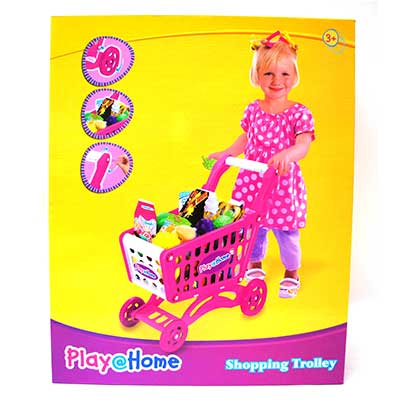Play At Home Shopping Trolley