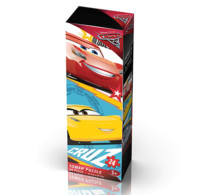 Cars 3 Mini Tower Puzzle