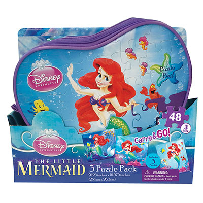 Disney Princess Carry and Go 3 Puzzle Pack