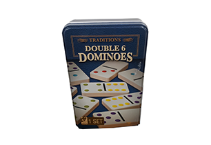 Double 6 Dominoes In Tin Tradition Game