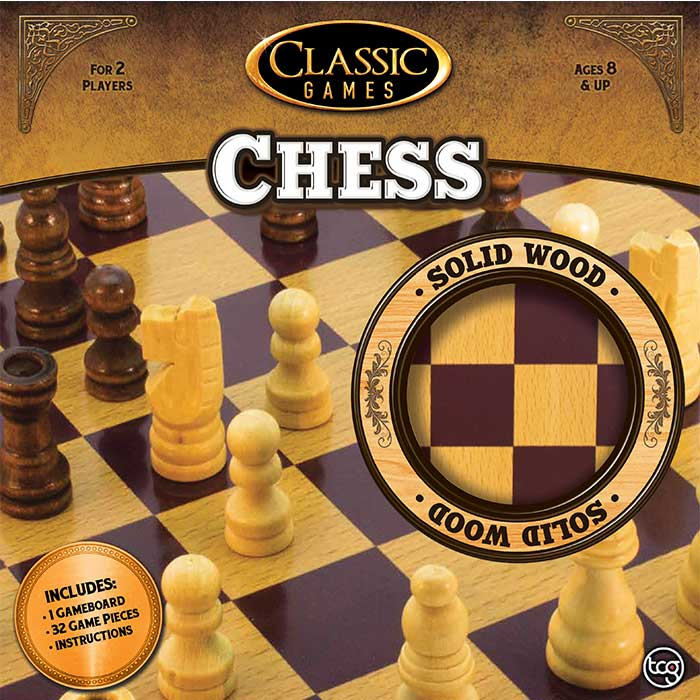 Classic Games Wood Chess Set ...