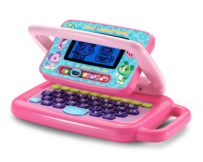 Leapfrog 2 In 1 Leaptop Touch Pink Leapfrog Prima Toys