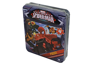 Spiderman 48pc Puzzles In Tin