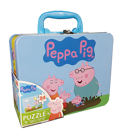 Peppa Pig Puzzle in Lunch Tin