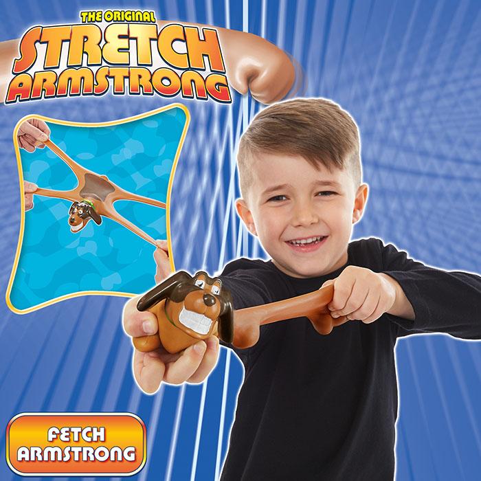 Mini Stretch Fetch Dog Stretch Armstrong Prima Toys