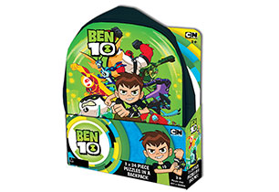 Ben 10 3x24 Piece Puzzles In A Backpack