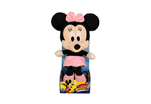 25CM MINNIE BIG HEAD PLUSH IN PLINTH