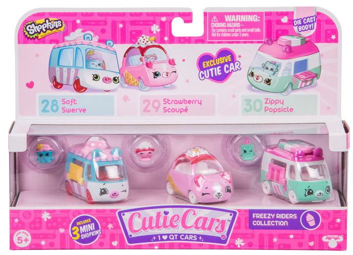 Shopkins Cutie Cars 3 Pack Shopkins Cutie Cars Prima Toys