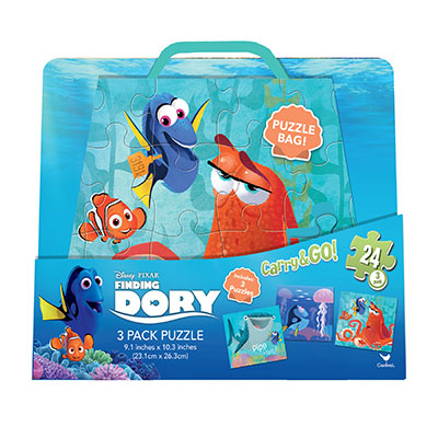 Finding Dory Carry and Go 3 Puzzle Pack