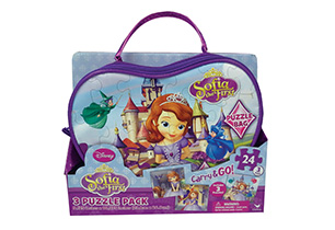 Sofia The First 3 Puzzles In Bag