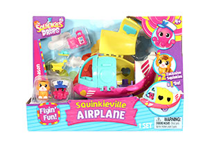 Squinkies Do Drops Squinkieville Airplane Vehicle