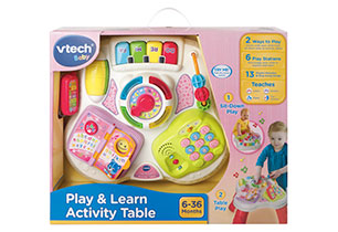 Play And Learn Activity Table Pink