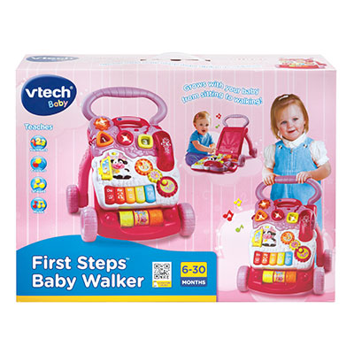First Step Baby Walker Pink