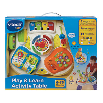 Play And Learn Activity Table V Tech Prima Toys