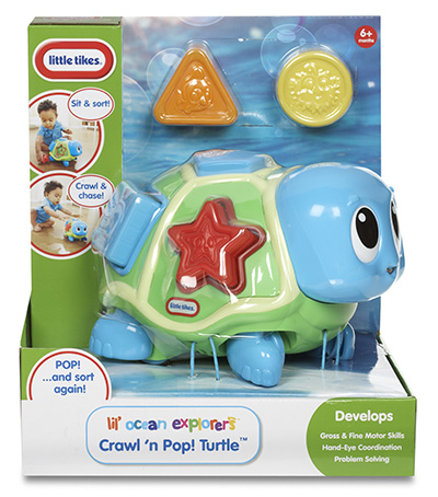 Little Tikes Ocean Explorer Crawl N Pop Turtle Little