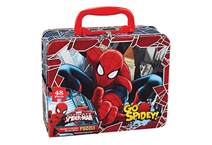 Spiderman Puzzle In Lunch Tin