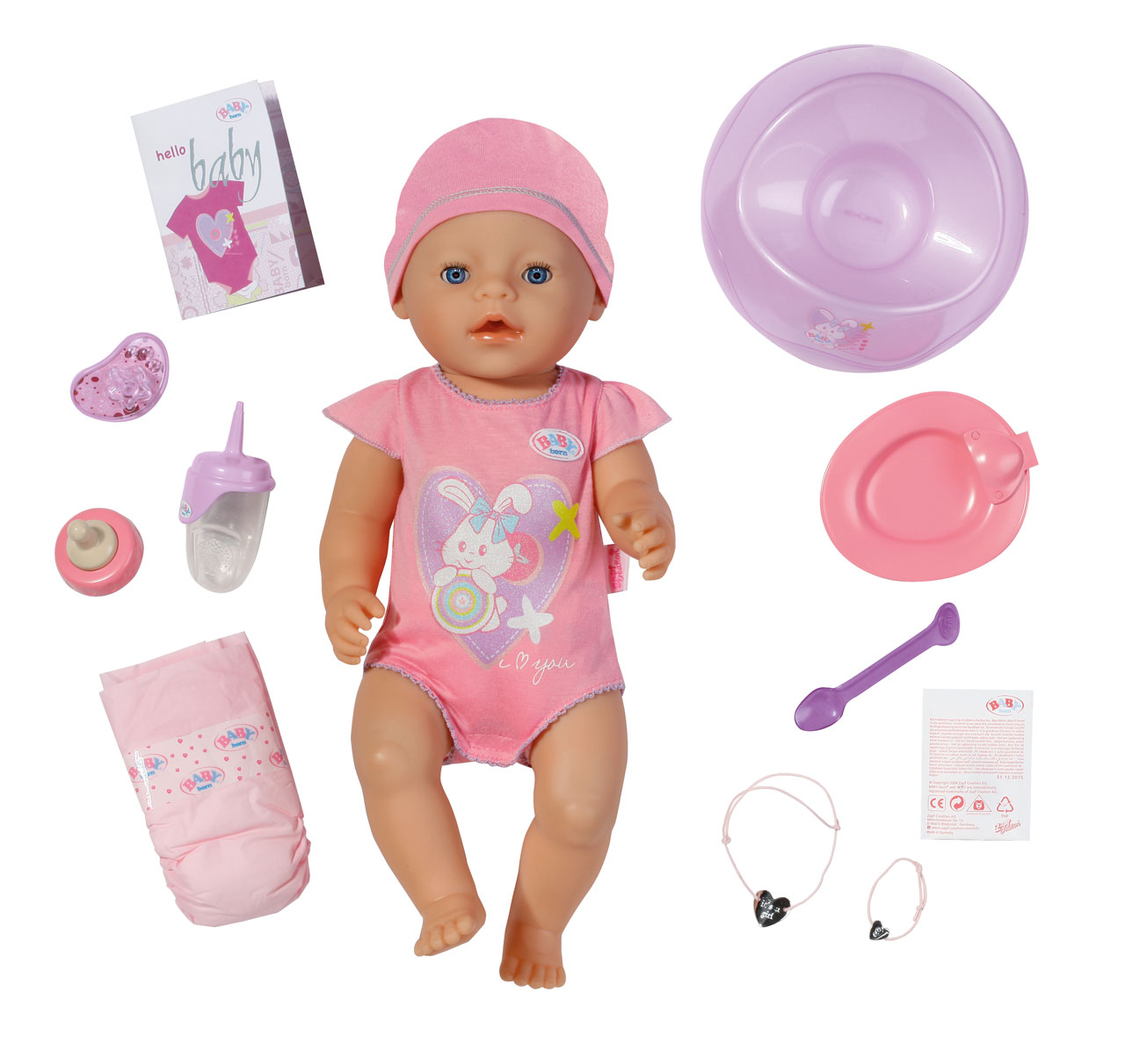 Baby Born Interactive Girl Baby Born Prima Toys