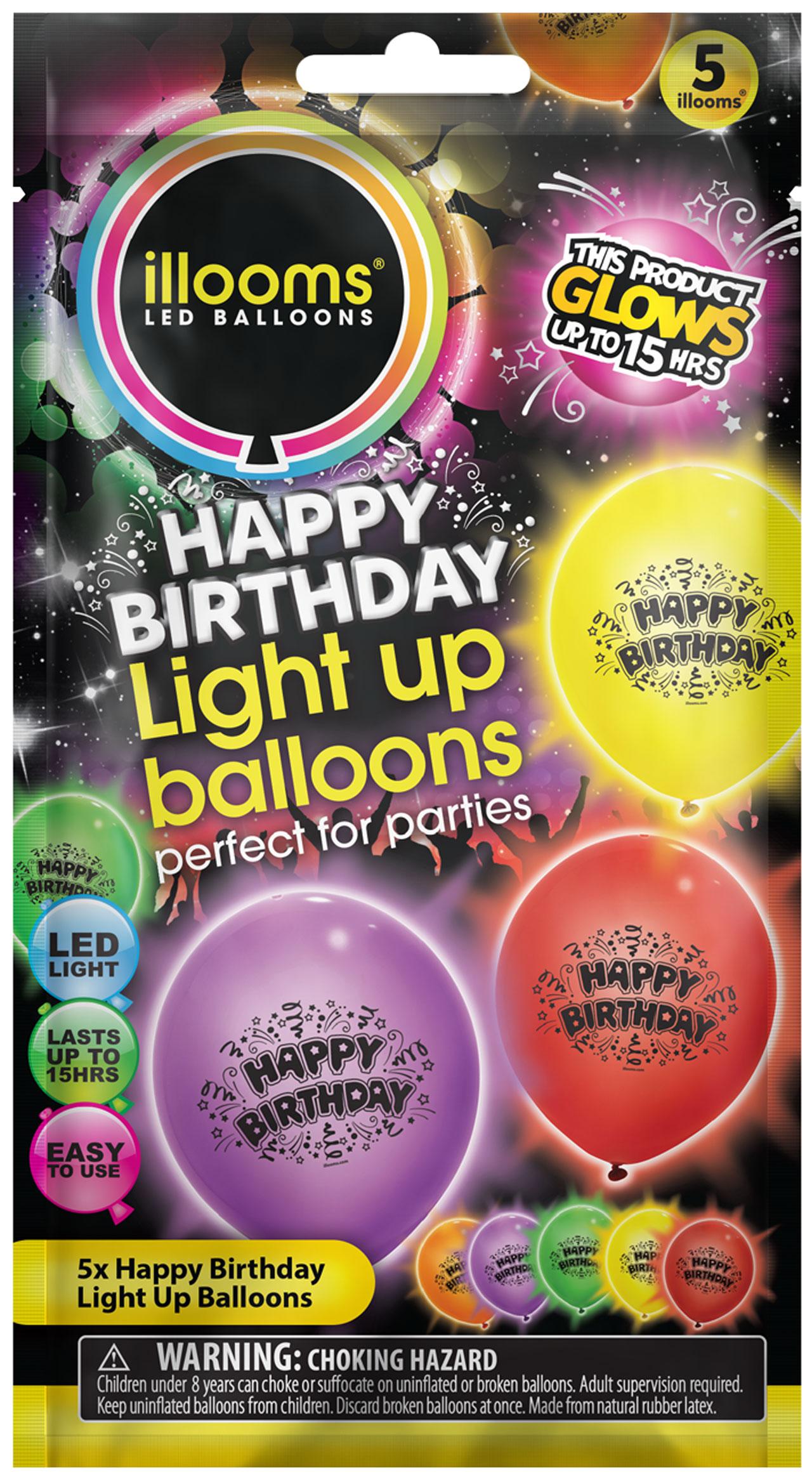 Ilooms Light Up Happy Birthday