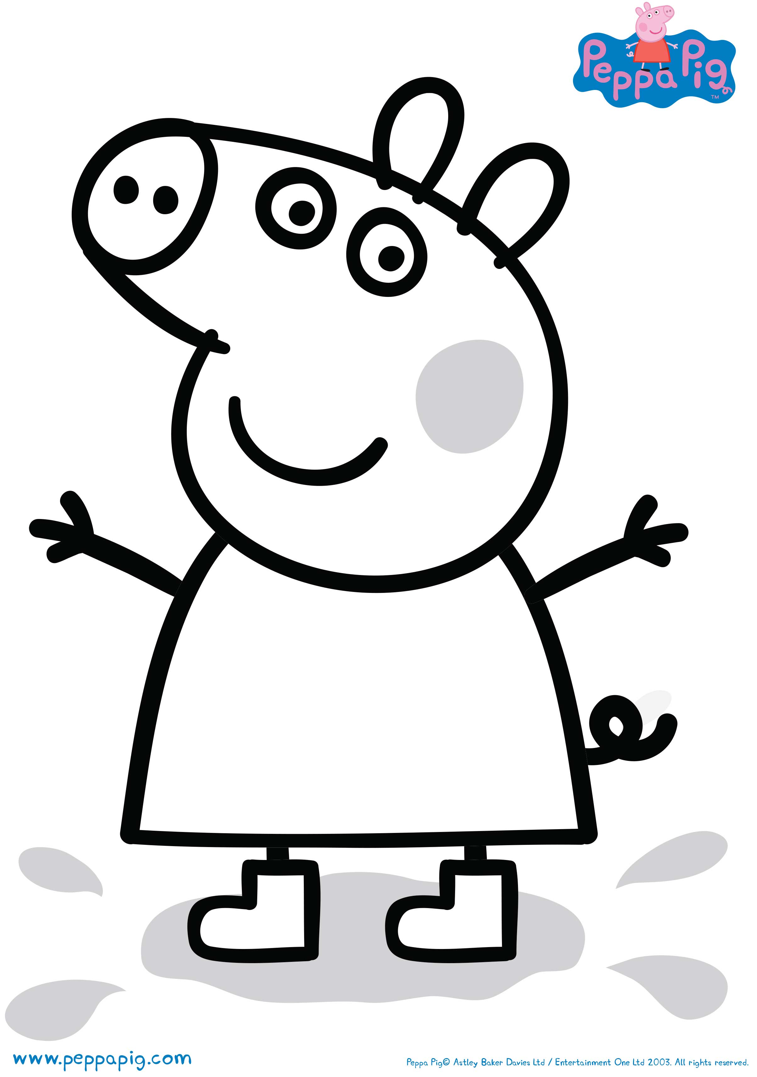 image relating to Peppa Pig Printable identified as Down load pleasurable routines and colour-ins in direction of print out and participate in