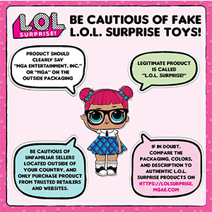 Be Cautious of Fake L.O.L. Surprise Toys