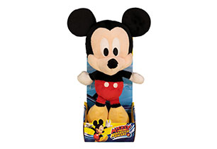 25cm Mickey Big Head Plush in Plinth
