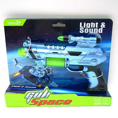 Battery Operated Gun With Light & Sound