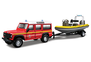 Bburago Emergency Vehicle With Boat In Trailer