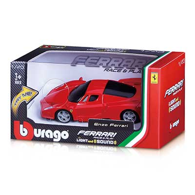 Bburago 1:43 Ferrari In Box Light & Sound