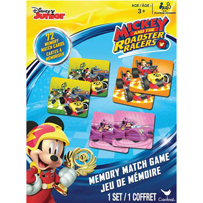 Mickey and The Roadster Racers Memory Match Game