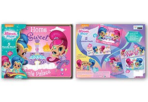 Shimmer & Shine 5 Pack Wood Puzzle