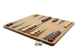 Classic Games Wood Backgammon