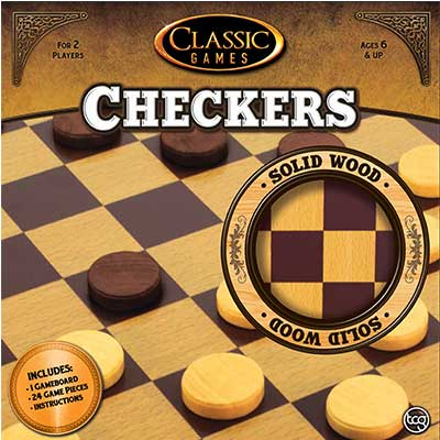 Classic Games Wood Checkers