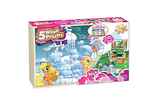 My Little Pony 5 Pack Wood Puzzles