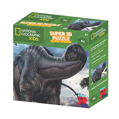 National Geographic 63pc Argentinosaurus 3D Puzzle