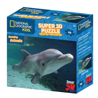 National Geographic 48pc Dolphin 3D Puzzle