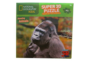 National Geographic 48pc Gorilla 3D Puzzle