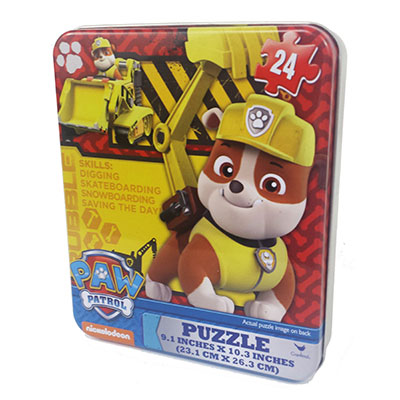 Paw Patrol 24 Puzzle In Tin