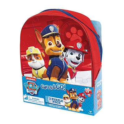 Paw Patrol Carry and Go 3 Puzzle Pack