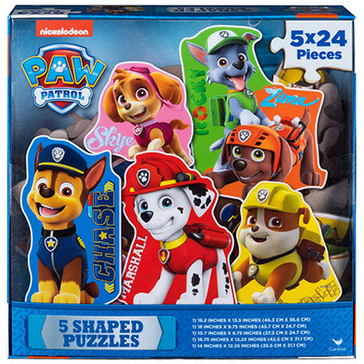 Paw Patrol 5 Shaped Puzzles in Box