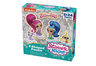 Shimmer & Shine 5 Shaped Puzzles in Box